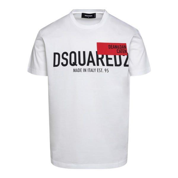White T-shirt with prints                                                                                                                             Dsquared2 S71GD1021 back