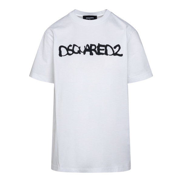 White T-shirt with written print                                                                                                                      Dsquared2 S72GD0322 back