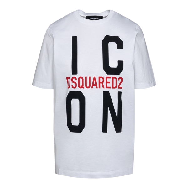 White T-shirt with large logo print                                                                                                                   Dsquared2 S80GC0024 back