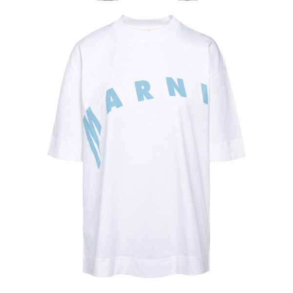 White T-shirt with logo                                                                                                                               Marni THJET49EPF front