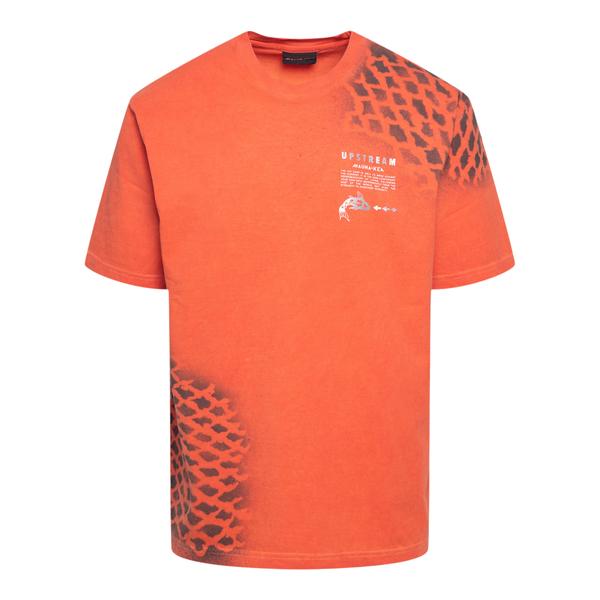 T-shirt arancione con stampa stencil                                                                                                                  Mauna Kea USM100 retro