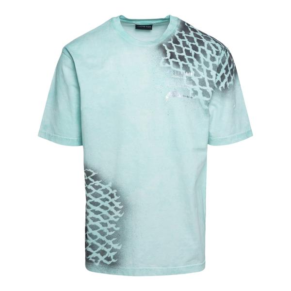 T-shirt azzurra con stampa stencil                                                                                                                    Mauna Kea USM100 retro