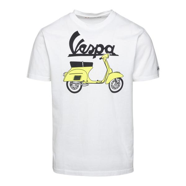 T-shirt bianca con stampa Vespa                                                                                                                       Saint Barth VESPAOUTLINE retro