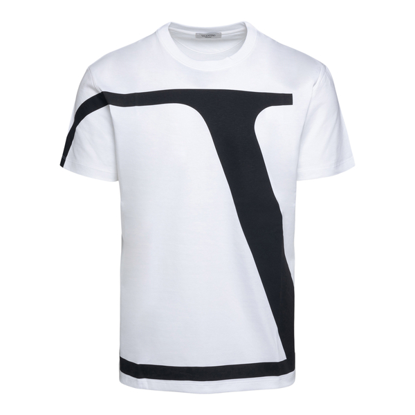 T-shirt bianca con maxi stampa logo                                                                                                                   Valentino WV3MG10V retro