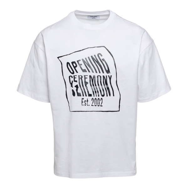 White T-shirt with branded print                                                                                                                      Opening Ceremony YMAA001S21JER002 back
