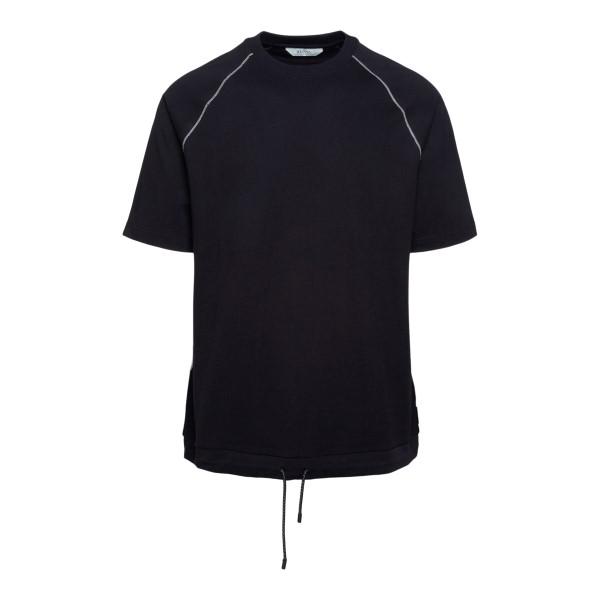 Black T-shirt with drawstring                                                                                                                         Zegna ZZ639 back
