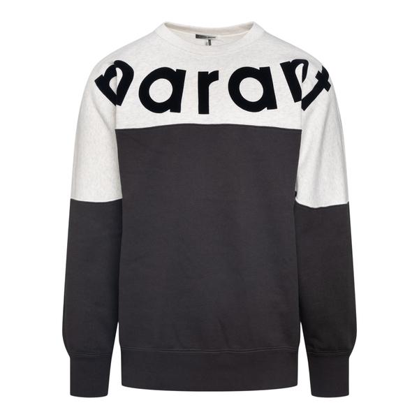 Two-tone crewneck sweatshirt with logo                                                                                                                Isabel Marant SW0259 back
