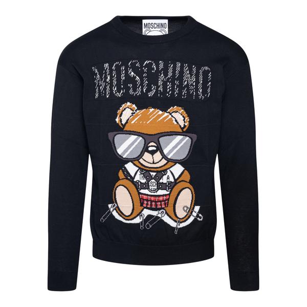 Maglioncino nero con orsetto                                                                                                                          Moschino 0927 retro