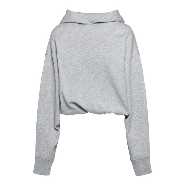 Grey crop-style sweatshirt                                                                                                                            The Attico 212WCT45 back