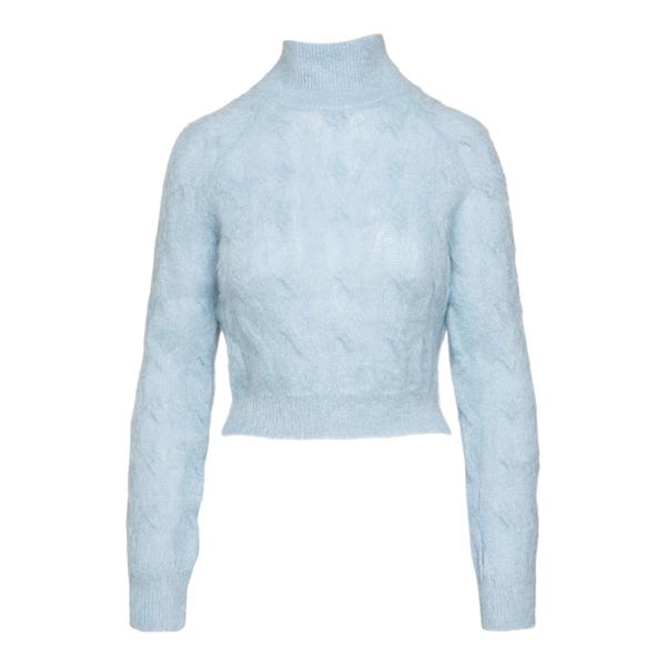 Maglioncino azzurro con bottoni in strass                                                                                                             Paco Rabanne 21AMPU136ML132 retro