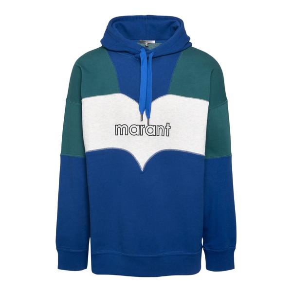 Blue and green sweatshirt with logo                                                                                                                   Isabel Marant SW0301 back