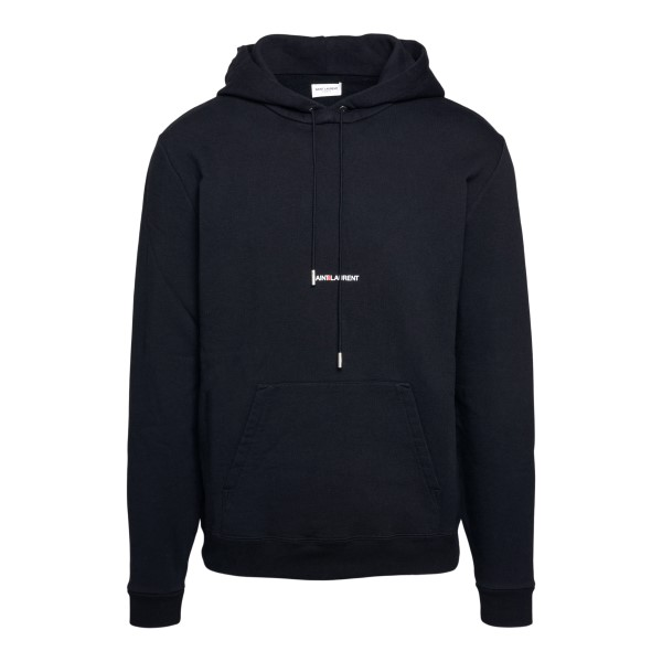 Black sweatshirt with logo print                                                                                                                      Saint Laurent 464581 back