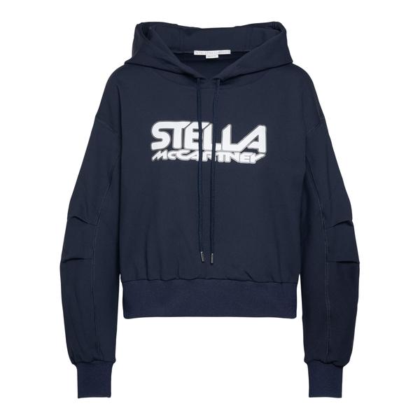 Felpa blu scuro con nome brand                                                                                                                        Stella Mccartney 603682 retro