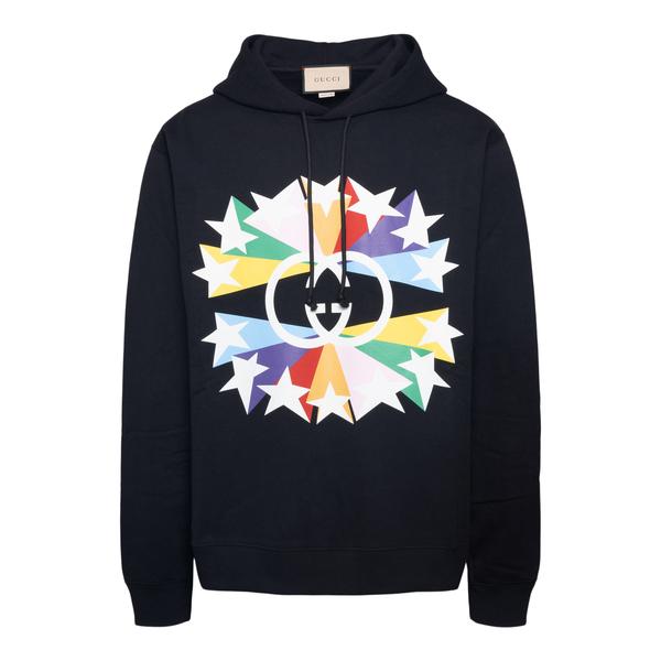 Black sweatshirt with star print                                                                                                                      Gucci 646953 back