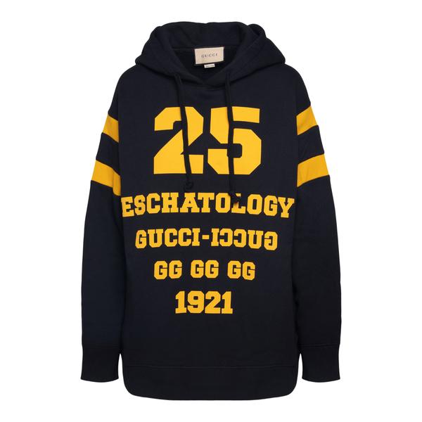 Felpa nera con scritte in giallo                                                                                                                      Gucci 660282 retro