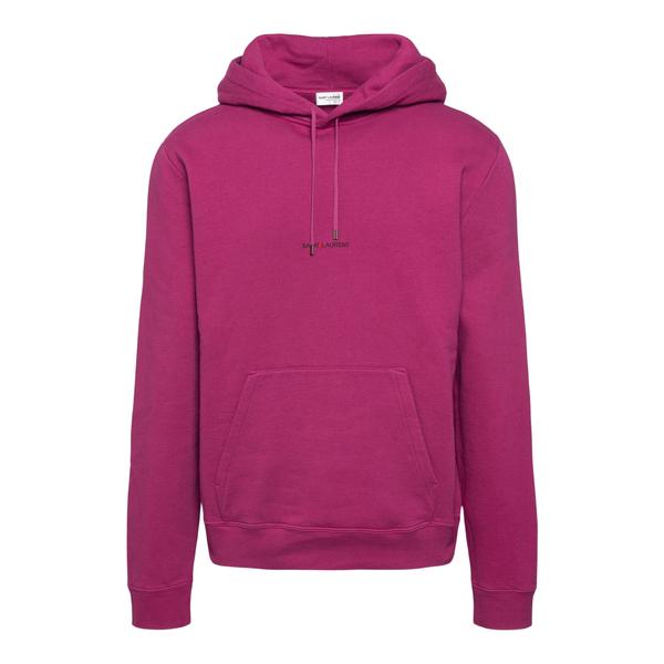 Fuchsia sweatshirt with brand name                                                                                                                    Saint Laurent 666166 back