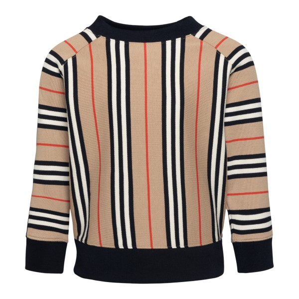 Beige striped sweatshirt                                                                                                                              Burberry 8022670 back