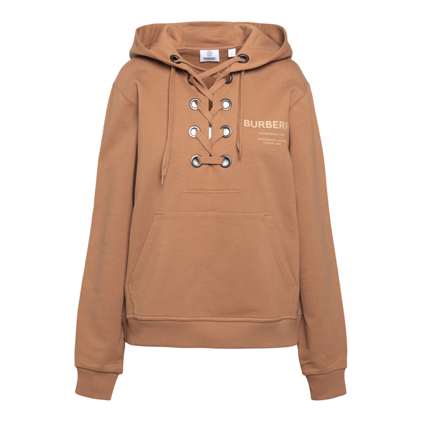 Light brown sweatshirt with laces                                                                                                                     Burberry 8038690 back