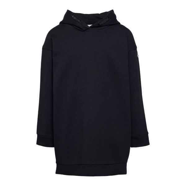 Black sweatshirt style dress with logo                                                                                                                Moncler 8I72510 back