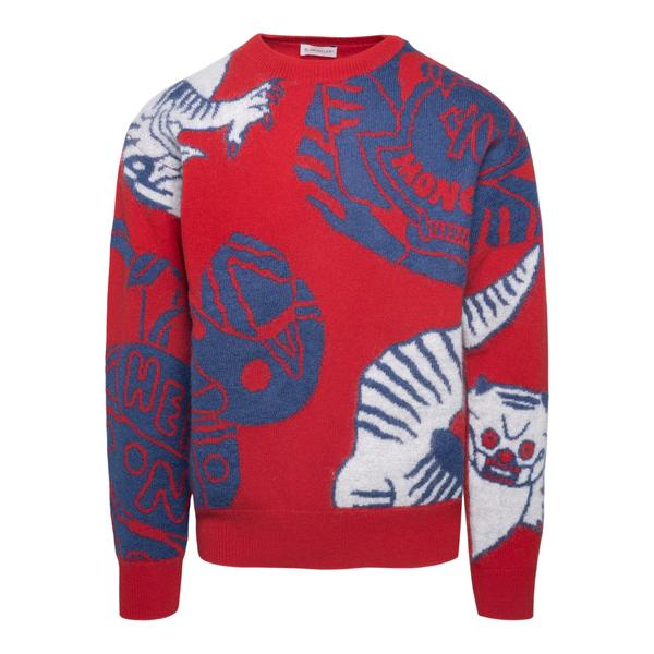 Maglione rosso a fantasia                                                                                                                             Moncler 9C00022 retro