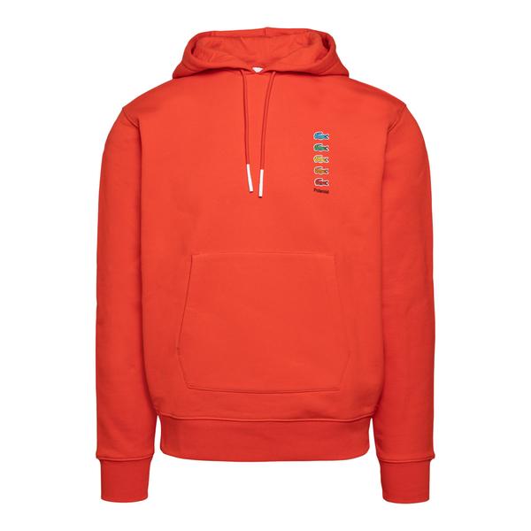 Felpa rossa con logo multicolore                                                                                                                      Lacoste L!ve ABSH5661 retro