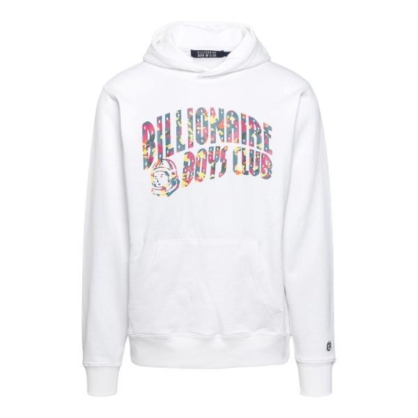 White sweatshirt with multicolored logo                                                                                                               Billionaire boys club B20360 front
