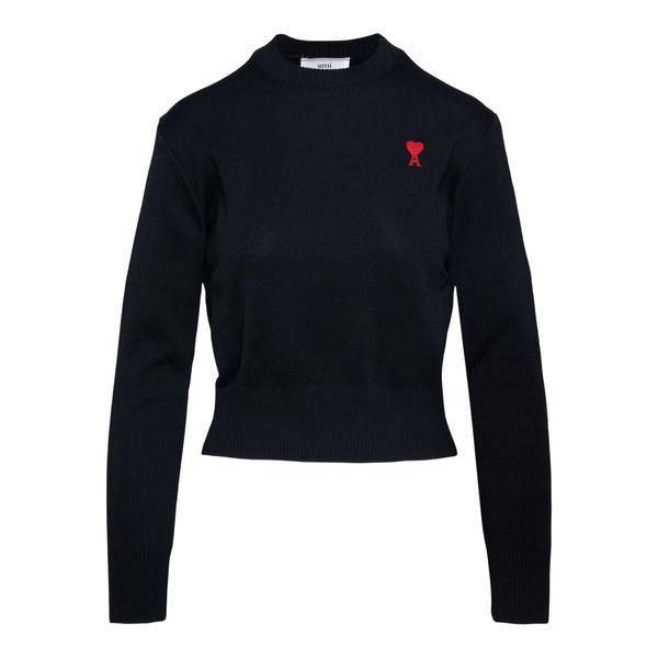 Black sweater with logo                                                                                                                               Ami BFFK001 back
