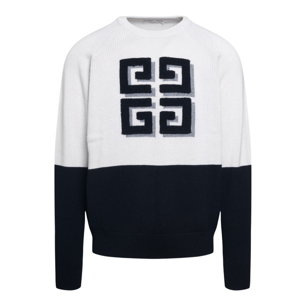 Two-tone sweater with logo                                                                                                                            Givenchy BW908N front