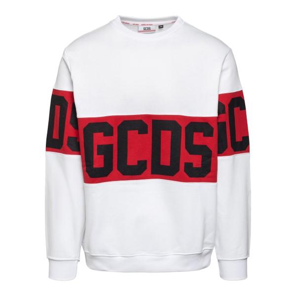 White sweatshirt with fas print                                                                                                                       Gcds CC94W021056 back