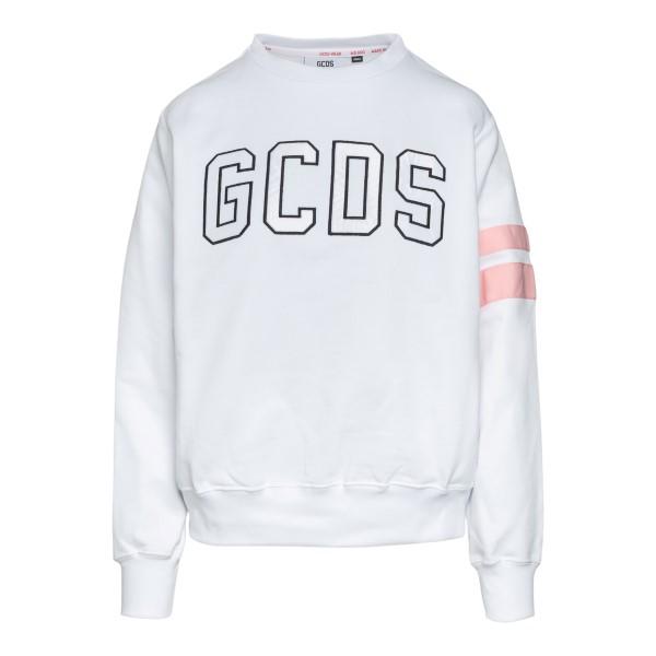 White sweatshirt with front logo                                                                                                                      Gcds CC94W020613 back