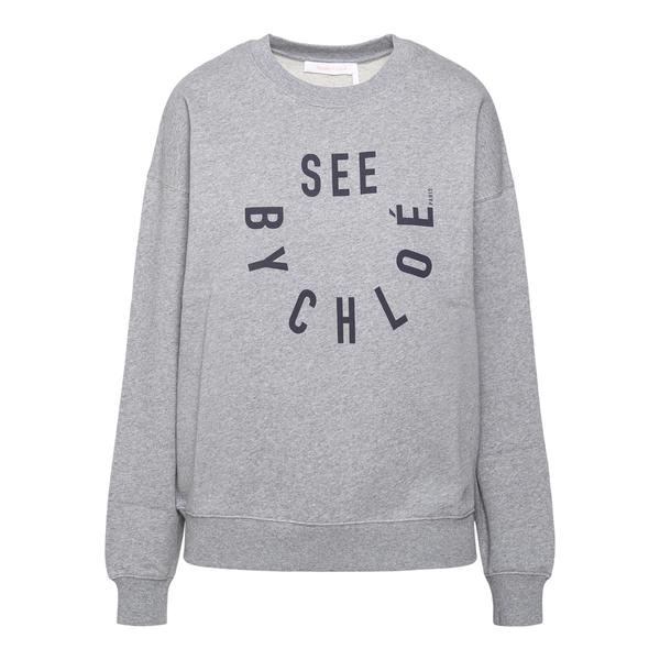 Felpa grigia con nome brand                                                                                                                           See By Chloe CHS21WJH08 retro