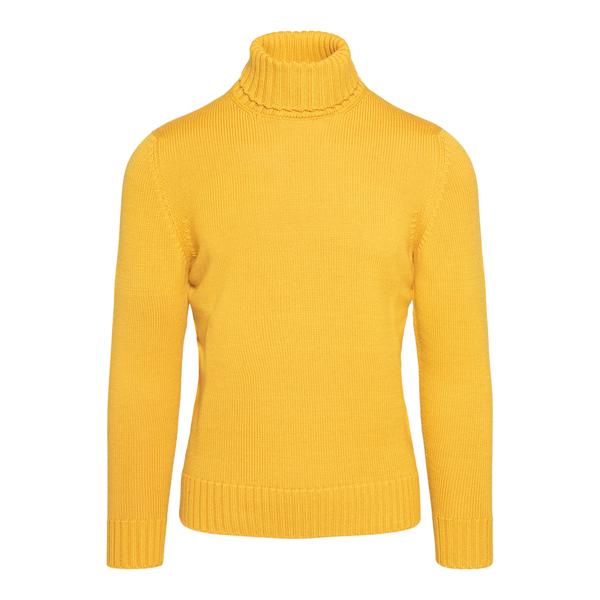 Maglione dolcevita giallo                                                                                                                             Drumohr D5M104 retro
