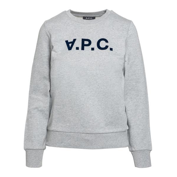 Grey sweatshirt with blue logo                                                                                                                        A.p.c. F27644 back