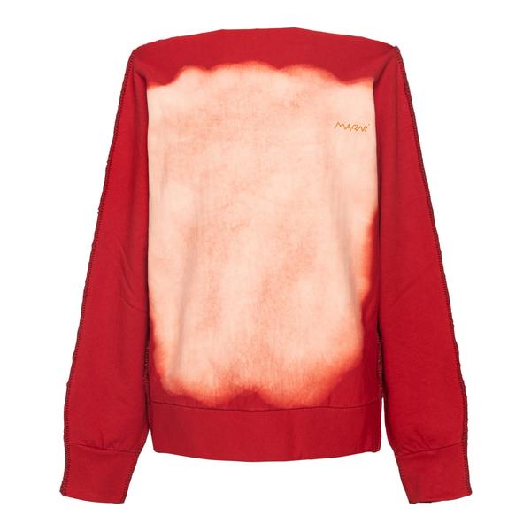 Felpa rossa con effetto sbiadito                                                                                                                      Marni FLJE0130XX retro