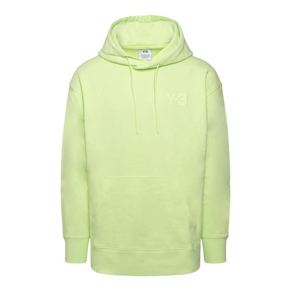 Green sweatshirt with logo                                                                                                                            Y3 HB3446 back