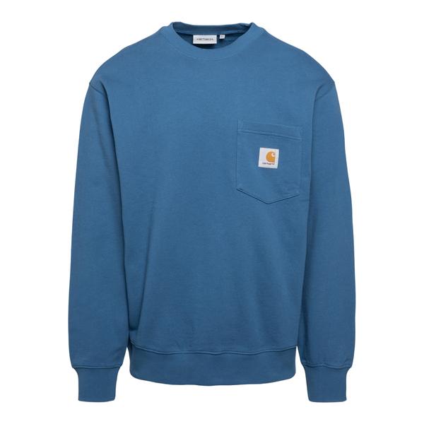 Felpa azzurra con logo                                                                                                                                Carhartt I027681 retro