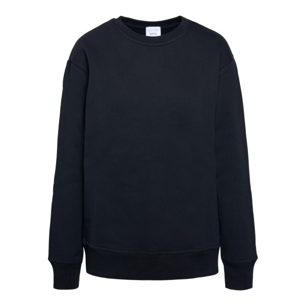 Black sweatshirt with logo on the back                                                                                                                Patou JE0189995999B front