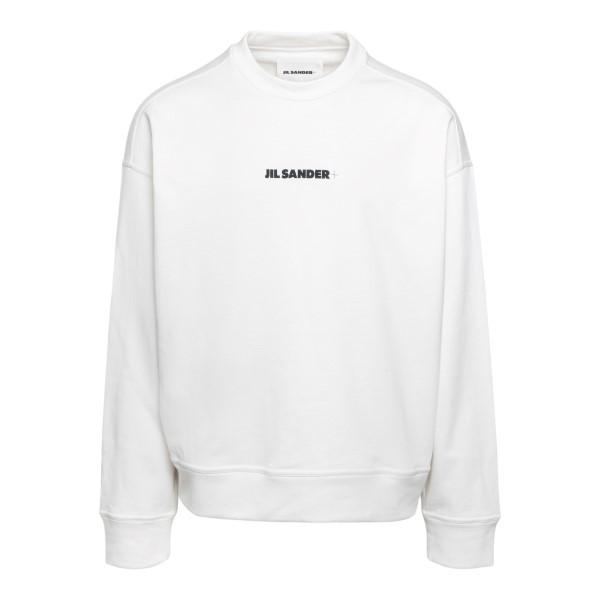 White sweatshirt with logo                                                                                                                            Jil sander JPUS707532 front