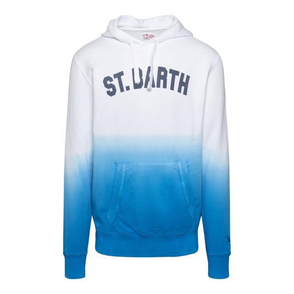 Felpa bianca e blu effetto sfumato                                                                                                                    Saint Barth MANHATTAN retro