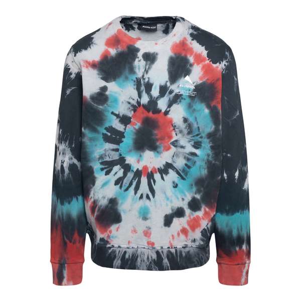 Tie-dye effect multicolour crewneck sweatshir                                                                                                         Mauna Kea MKS608 back