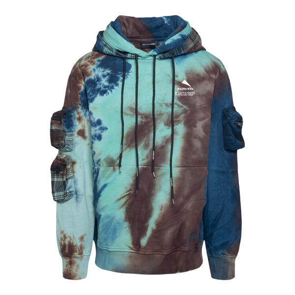 Tie-dye effect sweatshirt with side pockets                                                                                                           Mauna Kea MKS675 back