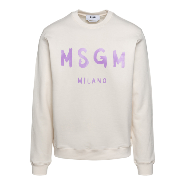 White sweatshirt with purple logo                                                                                                                     Msgm MM513 back