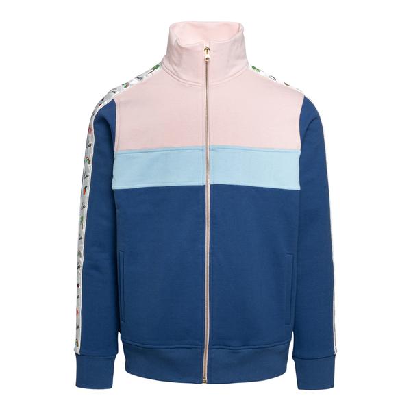 Multicolored sweatshirt with zip                                                                                                                      Casablanca MS21JTP013 back
