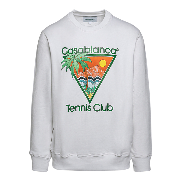 White sweatshirt with graphic print                                                                                                                   Casablanca MS21JTP001 back
