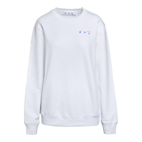 White sweatshirt with Arrows print on the bac                                                                                                         Off White OWBA055S21JER001 back