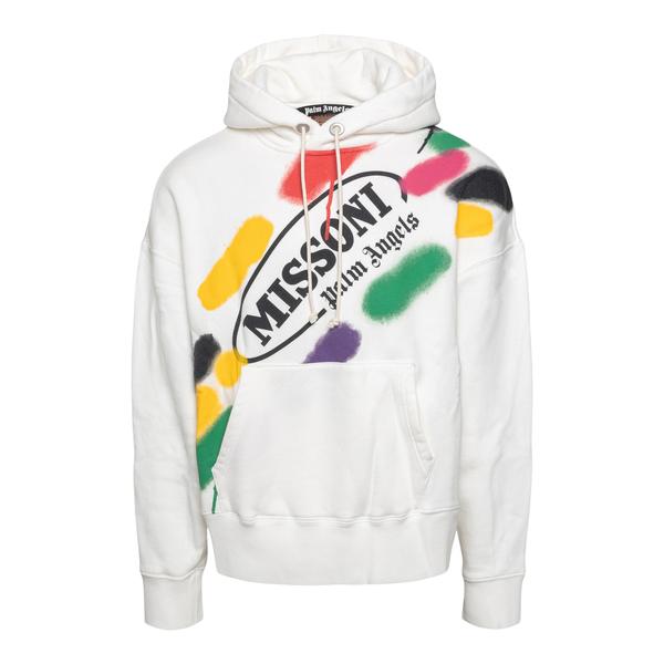 White sweatshirt with colorful print                                                                                                                  Palm Angels X Missoni PMBB058F21FLE014 back