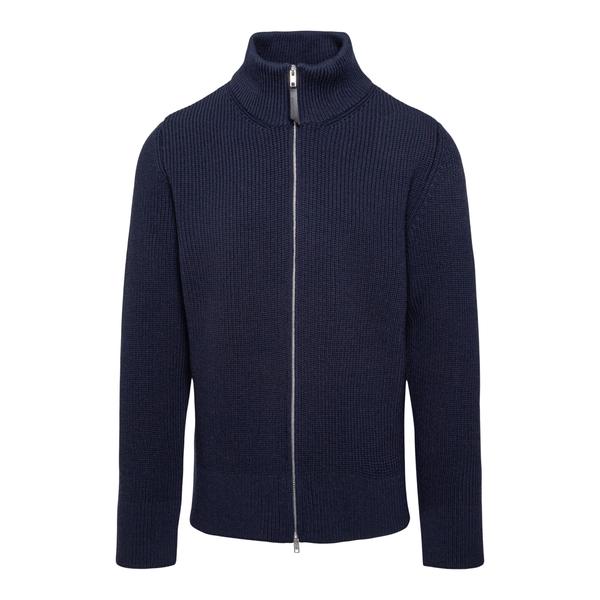 Maglione blu con zip                                                                                                                                  Maison Margiela S50GP0246 retro
