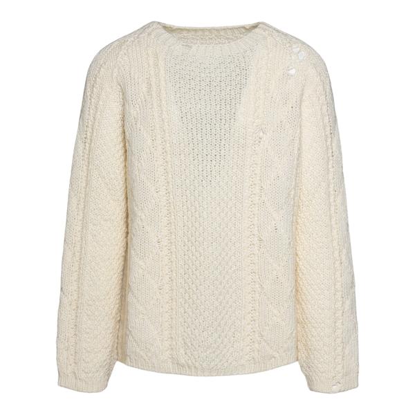 Maglione bianco in effetto vissuto                                                                                                                    Maison Margiela S50GP0252 retro