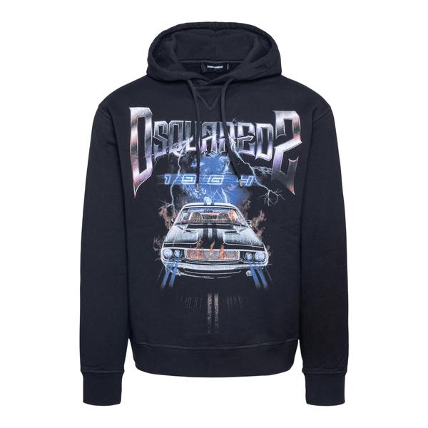 Black sweatshirt with graphic print                                                                                                                   Dsquared2 S71GU0454 back