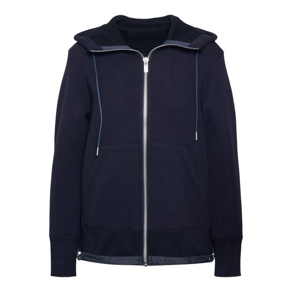 Felpa blu con zip                                                                                                                                     Sacai SCW050 retro